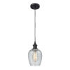 This item: Ballston Matte Black Five-Inch One-Light Mini Pendant with Clear Spiral Fluted Glass Shade
