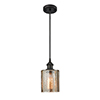 This item: Cobbleskill Oiled Rubbed Bronze LED Mini Pendant with Mercury Drum Glass