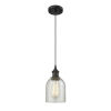 This item: Caledonia Oil Rubbed Bronze One-Light Mini Pendant with Mica Glass