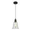 This item: Hanover Oil Rubbed Bronze One-Light Mini Pendant with Fishnet Glass