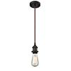 This item: Bare Bulb Oiled Rubbed Bronze One-Light Mini Pendant