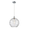 This item: Ballston Polished Chrome 12-Inch One-Light Pendant with Clear X-Large Deco Swirl Shade