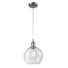 This item: Ballston Brushed Satin Nickel Eight-Inch LED Mini Pendant with Seedy Athens Shade and Silver Cord