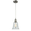 This item: Hanover Brushed Satin Nickel One-Light Mini Pendant with Fishnet Glass