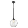 This item: Ballston Matte Black 10-Inch One-Light Pendant with Clear Large Athens Shade