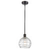 This item: Ballston Oil Rubbed Bronze Eight-Inch One-Light Mini Pendant with Clear Glass Shade