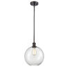This item: Ballston Oil Rubbed Bronze 10-Inch One-Light Pendant with Clear Large Athens Shade