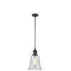 This item: Hanover Oil Rubbed Bronze One-Light Hang Straight Swivel Mini Pendant with Fishnet Glass