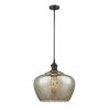This item: Large Fenton Oil Rubbed Bronze One-Light Pendant with Mercury Glass