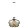 This item: Large Fenton Polished Chrome LED Pendant with Mercury Glass