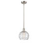 This item: Ballston Brushed Satin Nickel Eight-Inch One-Light Mini Pendant with Clear Glass Shade