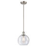 This item: Ballston Brushed Satin Nickel Eight-Inch LED Mini Pendant with Seedy Glass Shade