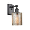 This item: Cobbleskill Matte Black LED Wall Sconce with Mercury Glass