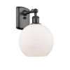 This item: Ballston Matte Black Eight-Inch One-Light Wall Sconce with Matte White Glass Shade