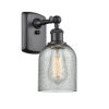 This item: Caledonia Matte Black One-Light Wall Sconce with Charcoal Glass