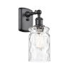 This item: Ballston Matte Black Five-Inch One-Light Wall Sconce with Clear Waterglass Glass Shade