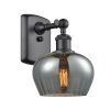 This item: Fenton Matte Black One-Light Wall Sconce with Plated Smoked Glass