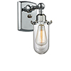 This item: Kingsbury Polished Chrome One-Light Wall Sconce with Clear Globe Glass