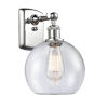 This item: Ballston Polished Chrome Eight-Inch LED Wall Sconce with Seedy Glass Shade