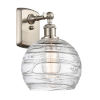 This item: Ballston Brushed Satin Nickel Eight-Inch One-Light Wall Sconce with Clear Glass Shade