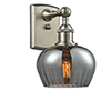 This item: Fenton Brushed Satin Nickel One-Light Wall Sconce with Smoked Fluted Sphere Glass
