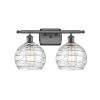 This item: Ballston Oil Rubbed Bronze 16-Inch Two-Light LED Bath Vanity with Clear Glass Shade