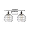 This item: Ballston Polished Chrome 16-Inch Two-Light LED Bath Vanity with Clear Glass Shade