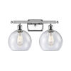 This item: Ballston Polished Chrome 16-Inch Two-Light Bath Vanity with Seedy Glass Shade