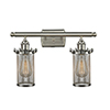 This item: Bleecker Brushed Satin Nickel Two-Light LED Bath Vanity