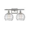 This item: Ballston Brushed Satin Nickel 16-Inch Two-Light Bath Vanity with Clear Glass Shade