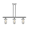 This item: Kingsbury Polished Chrome Three-Light LED Island Pendant with Clear Globe Glass