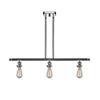 This item: Bare Bulb Polished Chrome Three-Light LED Island Pendant