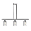 This item: Cobbleskill Brushed Satin Nickel Three-Light Island Pendant with Clear Ripple Drum Glass