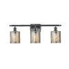 This item: Cobbleskill Matte Black Three-Light LED Bath Vanity with Mercury Glass