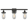This item: Kingsbury Oiled Rubbed Bronze Three-Light Bath Vanity with Clear Globe Glass