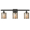 This item: Cobbleskill Oiled Rubbed Bronze Three-Light LED Bath Vanity with Mercury Drum Glass