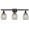 This item: Eaton Oiled Rubbed Bronze Three-Light LED Bath Vanity with Clear Fluted Sphere Glass