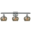 This item: Fenton Polished Chrome Three-Light LED Bath Vanity with Mercury Fluted Sphere Glass