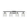 This item: Cobbleskill Polished Chrome Four-Light Bath Vanity with Clear Ripple Drum Glass
