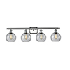 This item: Athens Brushed Satin Nickel Four-Light Bath Vanity with Clear Globe Sphere Glass