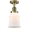This item: Canton Antique Brass LED Semi Flush Mount