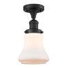 This item: Franklin Restoration Matte Black 12-Inch One-Light Semi-Flush Mount with Matte White Bellmont Shade
