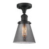 This item: Small Cone Matte Black LED Semi Flush Mount with Smoked Glass