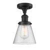 This item: Small Cone Matte Black LED Semi Flush Mount