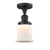This item: Franklin Restoration Oil Rubbed Bronze 12-Inch LED Semi-Flush Mount with Matte White Small Canton Shade