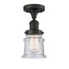 This item: Franklin Restoration Oil Rubbed Bronze 12-Inch One-Light Semi-Flush Mount with Seedy Canton Shade