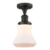 This item: Franklin Restoration Oil Rubbed Bronze 12-Inch LED Semi-Flush Mount with Matte White Bellmont Shade