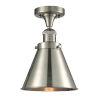 This item: Franklin Restoration Brushed Satin Nickel 10-Inch LED Semi-Flush Mount with Appalachian Brushed Satin Nickel Metal Shade