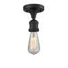 This item: Bare Bulb Matte Black LED Semi Flush Mount
