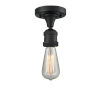 This item: Bare Bulb Matte Black One-Light Semi Flush Mount